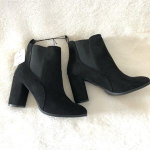 NWT Black Ankle Booties